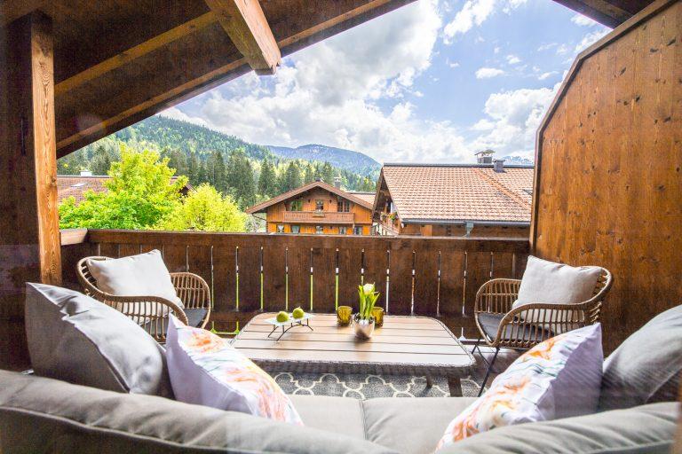 Balkon Ferienwohnung Alpen